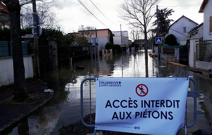 Inondation Janvier 2018 © Mairie de Villeneuve-Saint-Georges EL