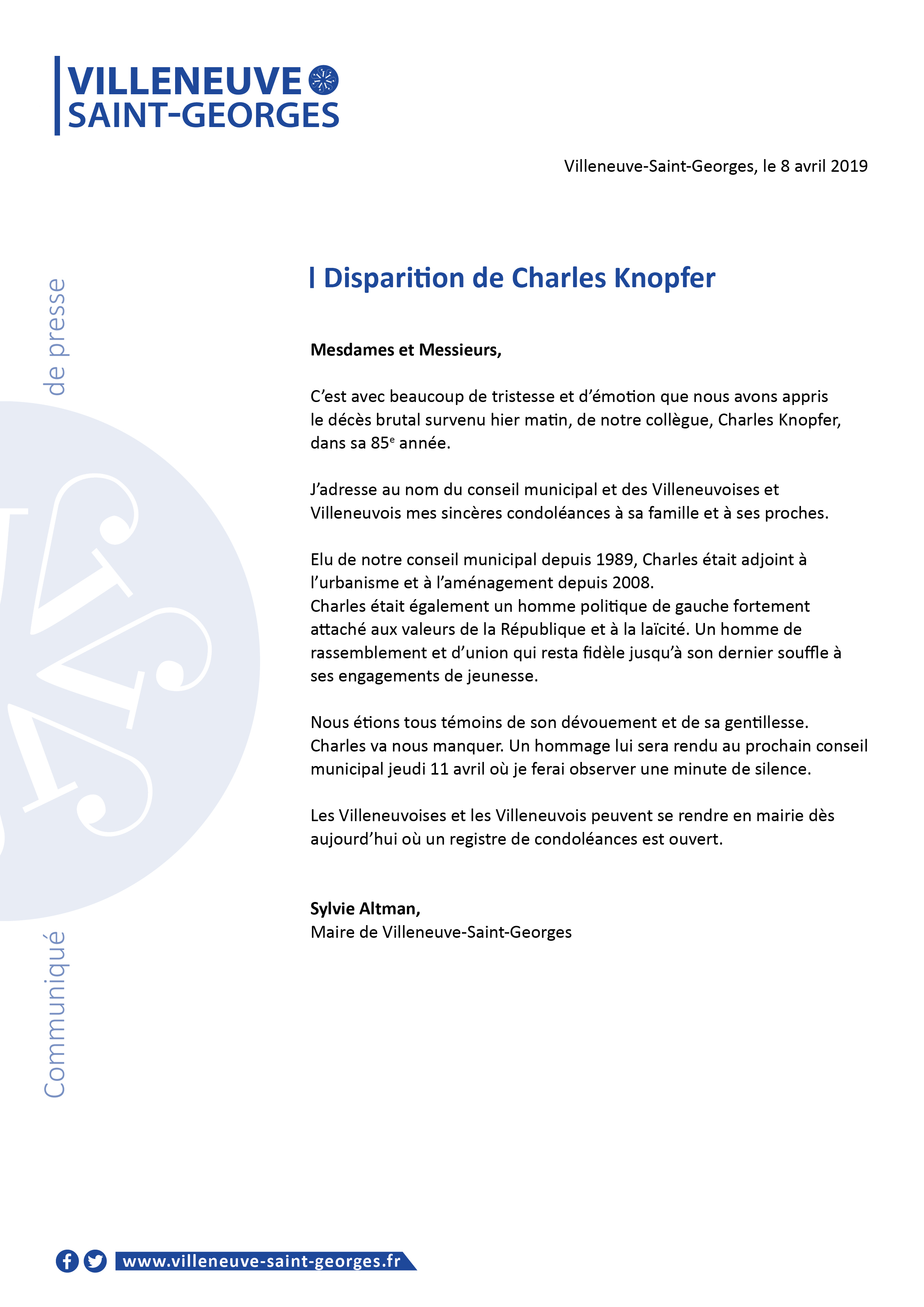 Disparition de Charles Knopfer